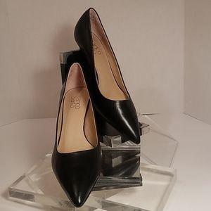 "Franco Sarto 3"" heel, size 9.5M black leather"